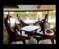 Dining area at Patio by the swimming pool